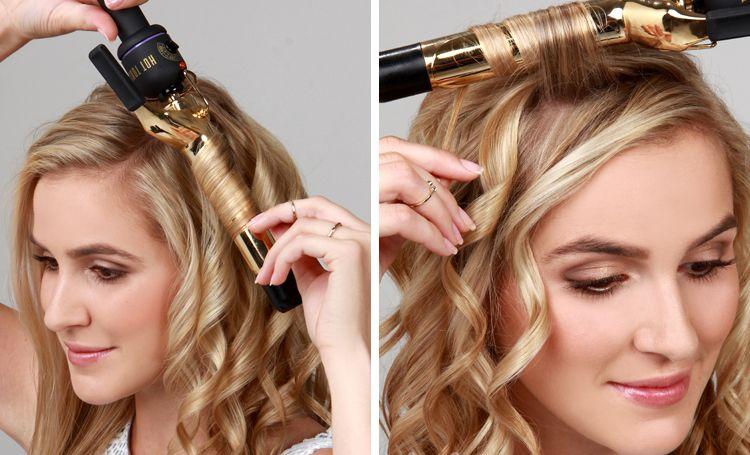 Как сделать крупные локоны на средних волосах7