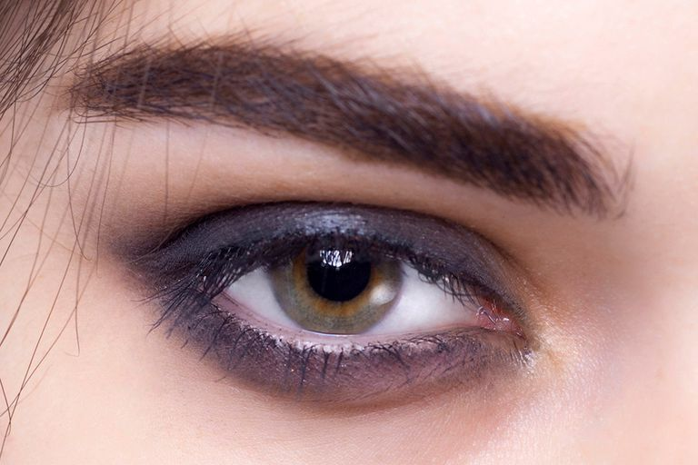 Thick Layers of Midnight Blue Shadow Blended Around the Eye