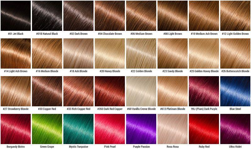 Оттенки цвета для окрашивания волос