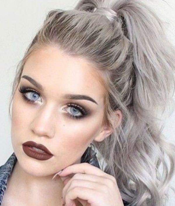 Цвет волос серебро