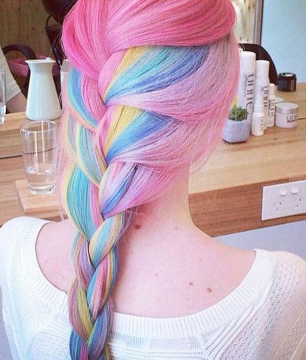 Волосы цветные длинные