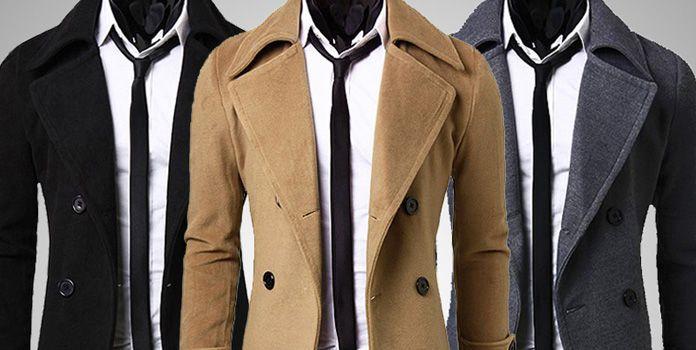 Двубортное пальто в подарок мужчине