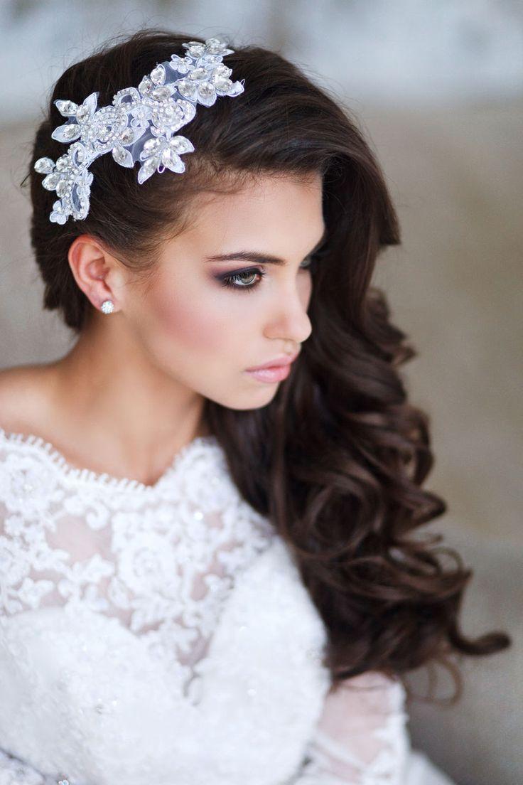 Невесты прическа на бок 43