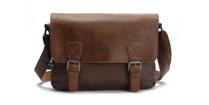 Необычная кожаная сумка для мужчины