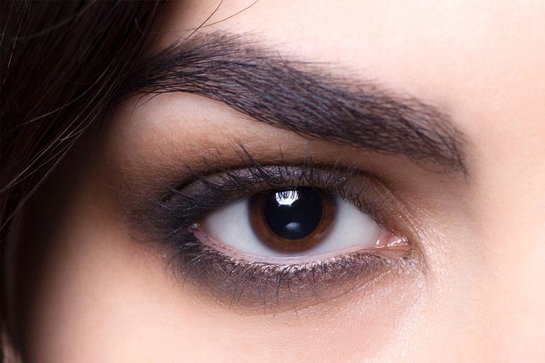 This Simple Smoky Eye with Muted Brown Hues