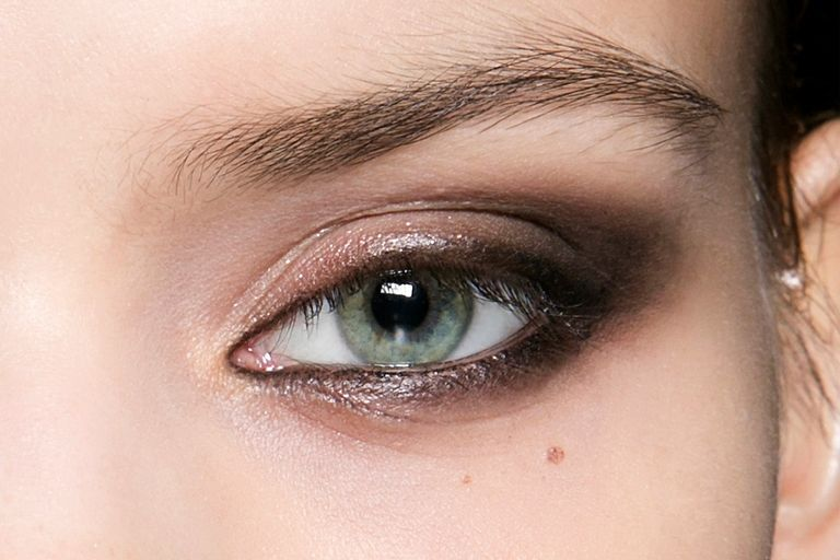 Glossy Black Eye With Charcoal-Lined Waterlines