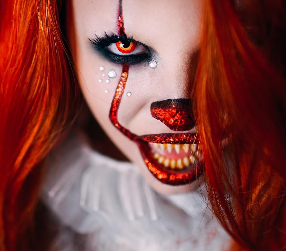 11 идей устрашающего макияжа клоуна на Хэллоуин
