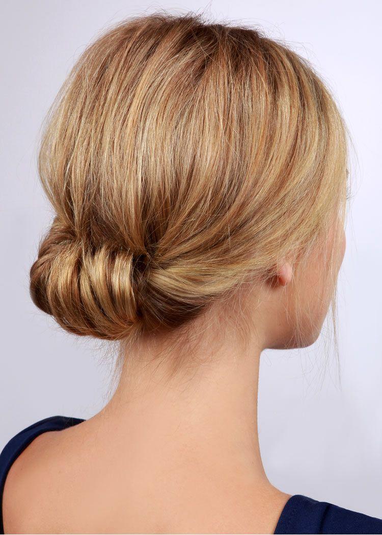 Свадебная прическа низкий пучок из волос
