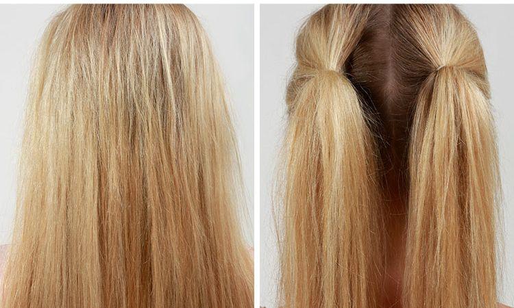 Волосы, собранные в два хвоста
