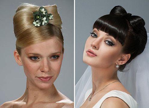 Красивая укладка для невест в виде банта из волос