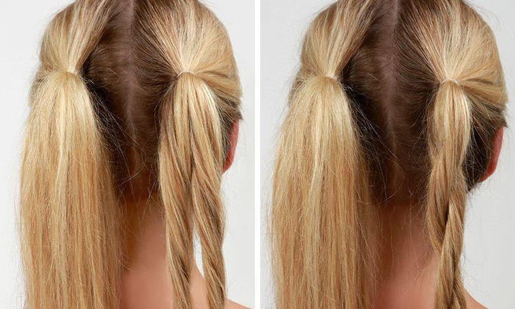 Жгуты на волосах