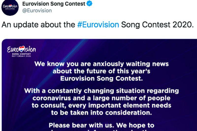 «Евровидение» перенесли на 2021 год